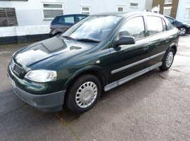 Vauxhall Astra, 1999 (V) Green Hatchback, Manual Petrol, 74,804 miles