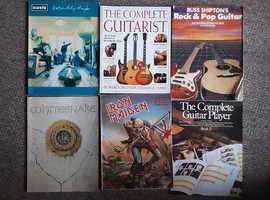 Guitar tuition tablature books, iron maiden, Whitesnake, Oasis etc. 6 in total