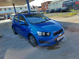 Chevrolet Aveo, 2013 (13) Blue Hatchback, Manual Petrol, 74,000 miles