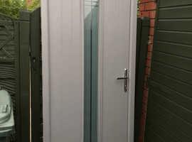 Composite door grey white