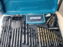 Erbaeur drill set 79 piece combination set masonry, wood, plastic and metal