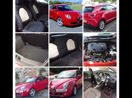 REDUCED PRICE Alfa Romeo Mito, 2014 (64) Red Hatchback, Manual Petrol, 49,500 miles