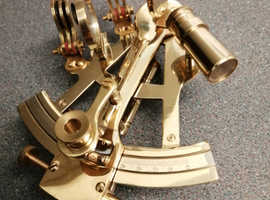 """Solid brass 5"""" sextant nautical"""