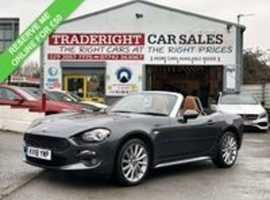 2018/18 Fiat 124 Spider 1.4 Multi-Air Lusso Convertible finished in Fashion Grey Metallic. 19805 miles