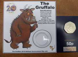 *ONLY A FEW REMAINING* PRE - ORDER 2019 GRUFFALO BU 50P COIN *ORDERS WILL BE POSTED 1st WEEK OF APRIL
