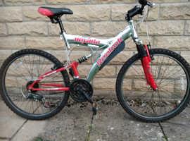 "Large frame Adults Suspension mountain bike,20"" frame,26"" wheels,21spd"