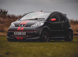 Peugeot 107, 2007 (07) black hatchback, Manual Petrol, 96,000 miles