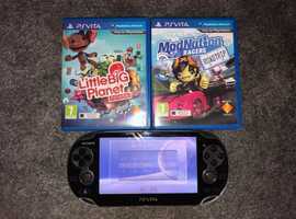 PS Vita with 2 games