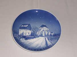Bing & Groendahl Jule Aften plate from 1960. Similar to Royal Copenhagen plates
