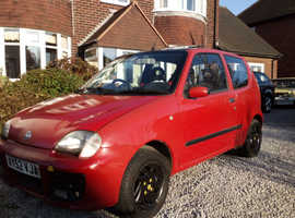 Fiat Seicento, 2002 (52) red hatchback, Manual Petrol, 138000 miles