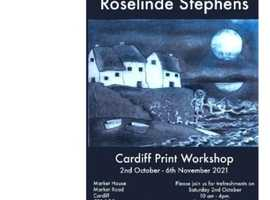 Cardiff print workshop Exhibition featuring the work of Roselinde Stephens