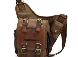 Vintage Canvas Messenger Shoulder Bag