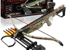 Anglo Arms Panther 175lb DELUXE Crossbow Kit (Camo Version) With Accessories & Rucksack Style Padded Crossbow Carry Case.