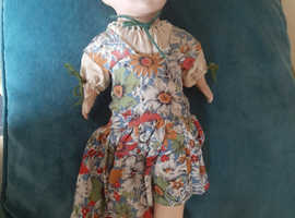 1930s hard headed doll with soft body