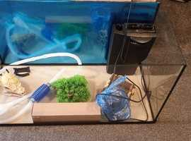 105 liter fishtank with everything £150