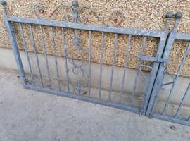 Double galvanised gates
