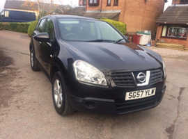 Nissan Qashqai, 2007 (57) Black Hatchback, Manual Diesel, 95,000 miles