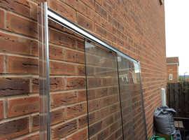 Aluminium frame shower screen with sliding glass
