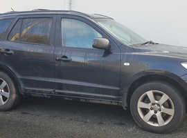 Hyundai Santa Fe, 2006 (56) Black Estate, Manual Diesel, 165,000 miles