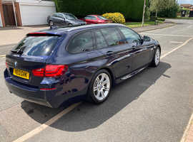 BMW 5 Series, 2013 (13) Blue Estate, Automatic Diesel, 93,000 miles