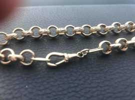 9ct gold belcher chain 38g