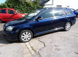 Toyota Avensis, 2007 (07) Blue Estate, Manual Diesel, 102,000 miles