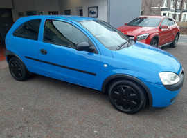 Vauxhall Corsa, 2002 (02) Blue Hatchback, Manual Petrol, 79,000 miles