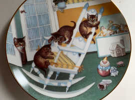 Porcelain Plates - Hamilton Limited Edition 'Country Kittens' Collection