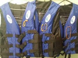For sale 3 new life jackets.