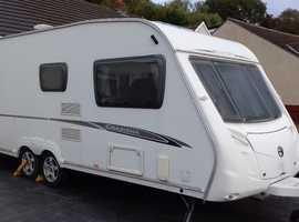 TWIN AXLE FIXED DOUBLE BED 2007 SWIFT CHARISMA 620. TOP RANGE SPACIOUS FAMILY CARAVAN. EXCELLENT.