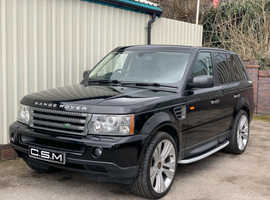 Land Rover RANGE ROVER HSE AUTO, 2008 (57) Black 4x4, Automatic Diesel, 140,000 miles