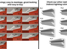 XPS Polystyrene COVING LED Lighting CORNICE MOLDINGS home decor, DIY eBay - Many types and sizes