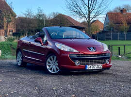 Peugeot 207, 2007 (07) Red Coupe, Manual Petrol, 74,205 miles, MOT FEB 2021