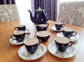 15-piece Alfred Meakin coffee set (Midnight Star)
