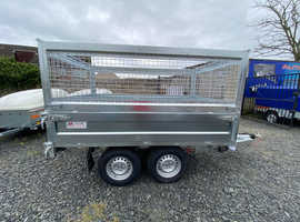 BRAND NEW 2020 MODEL 8X5 TRAILER DOUBLE AXLE 1 WAY ELECTRIC TIPPER WITH 80CM MESH 2700KG