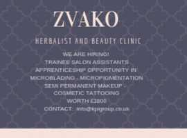 Trainee salon assistant position available