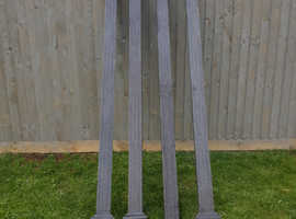 Pewter Cast Aluminium Pergola Posts 250cm x 11cm x 11cm