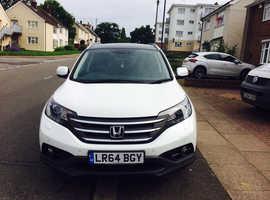 Honda CR-V, 2014 (64) White Estate, Manual Diesel, 38,100 miles