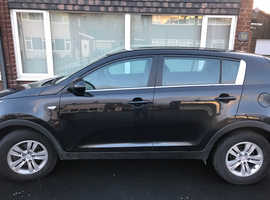 Kia Sportage, 2012 (12) Black Estate, Manual Diesel, 124,439 miles