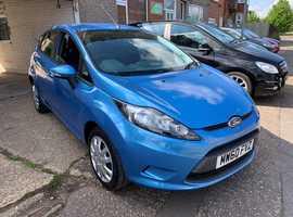 Ford Fiesta, 2011 (60) Blue Hatchback, Manual Diesel, 106,000 miles
