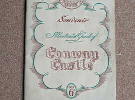 1953 VINTAGE SOUVENIR ILLUSTRATED GUIDE OF CONWAY CASTLE PHOTOS & MAP