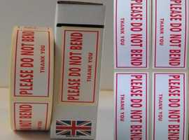 Do Not Bend Labels 80mm x 34mm 1000 On A Roll