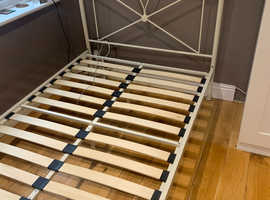 Small double bed frame.