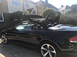 BMW 6 Series, 2005 (05) Black Convertible, Automatic Petrol, 107,000 miles