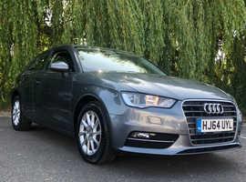 Audi A3, 2014 (64) Grey Hatchback, Manual Diesel, 77,650 miles