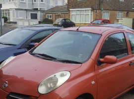 Nissan Micra, 2004 (54) Red Hatchback, Manual Petrol, 50,540 miles