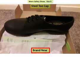 Men's Safety Shoes. Steel Toe Cap. Size 9. Brand New