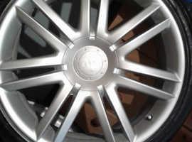 "4 x audi s8 5.2 fsi 19"" wheels"