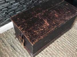 Original antique pine trunk