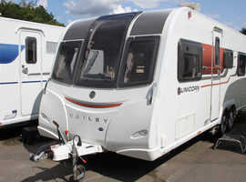 Bailey Unicorn OVS Barcelona 2015 4 Berth Fixed Bed Twin Axle Caravan + Quad Motor Movers + One Owner from New + Solar Panel + Alde Heating